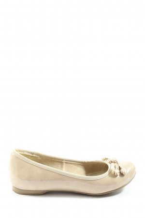 Marco Tozzi Patent Leather Ballerinas cream casual look