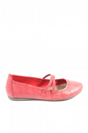 Marco Tozzi Mary Jane Ballerinas red casual look