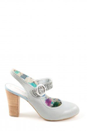 Marco Tozzi Mary Jane Pumps hellgrau Business-Look