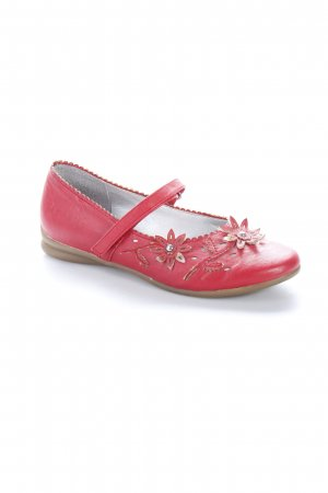 Marco Tozzi Mary Janes red flower pattern Lather elements
