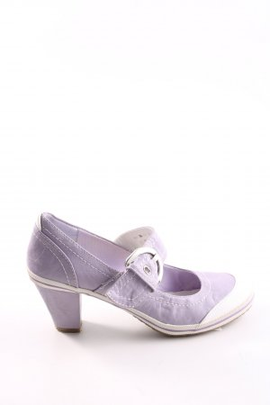 Marco Tozzi Mary Jane Pumps lila-weiß Casual-Look