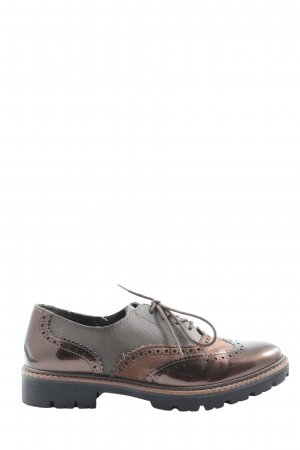 Marco Tozzi Oxfords bruin casual uitstraling