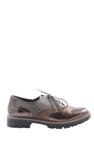 Marco Tozzi Chaussure Oxford brun style décontracté