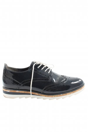 Marco Tozzi Oxfords zwart casual uitstraling