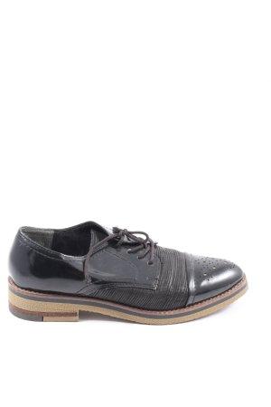 Marco Tozzi Oxfords zwart zakelijke stijl