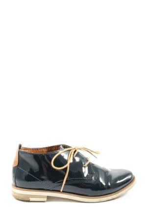 Marco Tozzi Chaussure Oxford noir-brun style décontracté