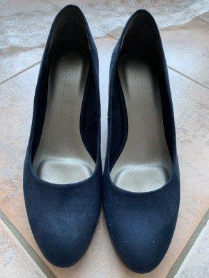 Marco Tozzi Classic Court Shoe blue