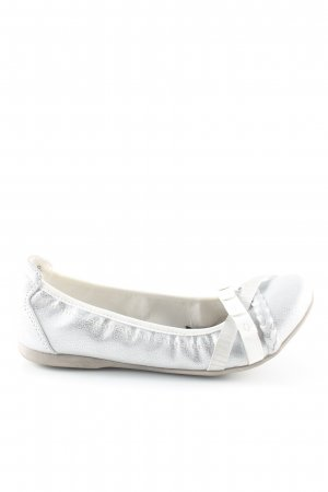 Marco Tozzi Strappy Ballerinas silver colored white casual look