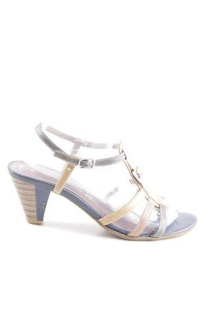 Marco Tozzi Riemchen-Sandaletten blau-wollweiß Casual-Look