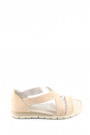 Marco Tozzi Riemchen-Sandaletten creme Casual-Look