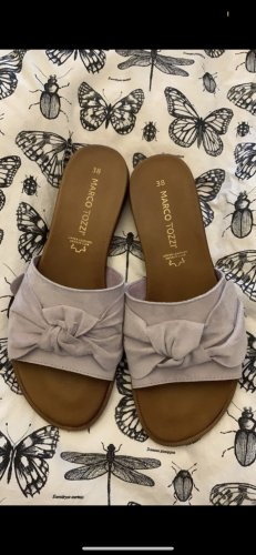 Marco Tozzi Beach Sandals brown-lilac leather