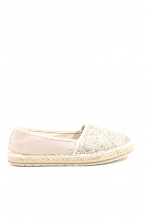 Marco Tozzi Espadrille sandalen wolwit-goud casual uitstraling