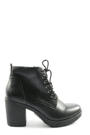 Marco Tozzi Sznurowane botki czarny W stylu casual