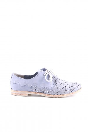 Marco Tozzi Schnürschuhe lila Blumenmuster Casual-Look