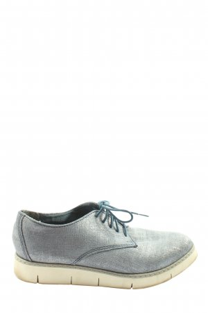 Marco Tozzi Lace Shoes blue flecked casual look
