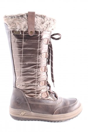 Marco Tozzi Snow Boots brown-cream casual look