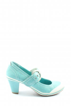 Marco Tozzi Backless Pumps turquoise casual look