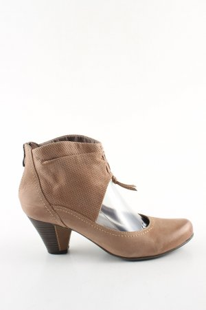 Marco Tozzi Cut Out Booties brown casual look