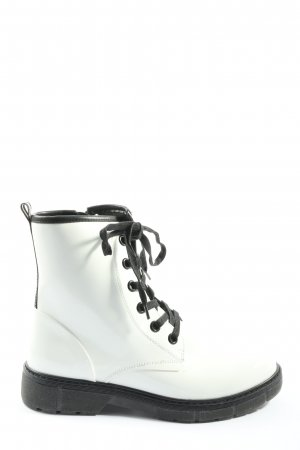 Marco Tozzi Combat Boots white-black casual look