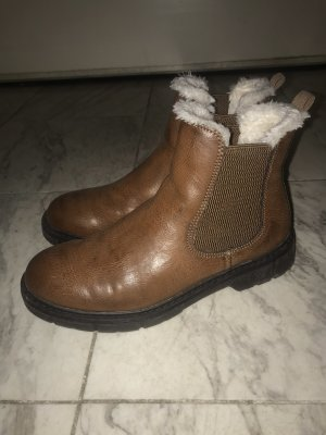 Marco Tozzi Stiefelette Chelsea Boots braun Fell