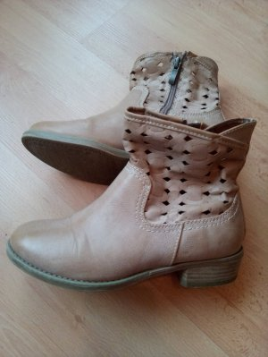 Marco Tozzi Cut Out Booties sand brown