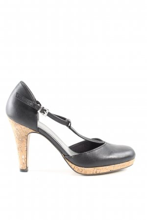 Marco Tozzi T-Steg-Pumps schwarz Business-Look