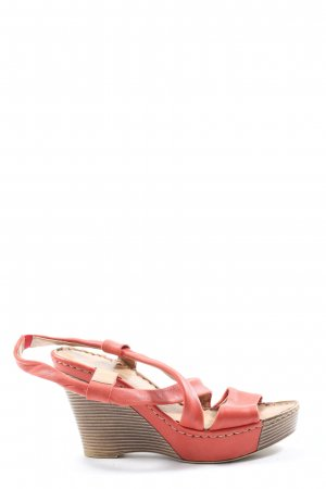 Marco Tozzi Wedges Sandaletten rot Casual-Look