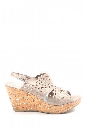 Marco Tozzi Wedges Sandaletten creme Casual-Look