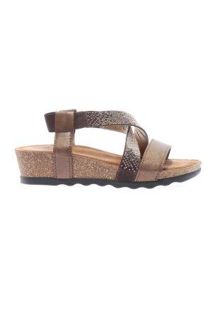 Marco Tozzi Wedges Sandaletten braun Casual-Look