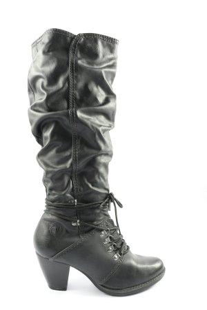 Marco Tozzi Botas de pantorrilla ancha negro look casual