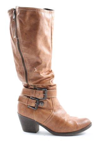 Marco Tozzi Buty w stylu western brązowy W stylu casual