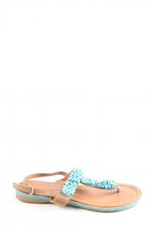 Marco Tozzi Toe-Post sandals turquoise-brown casual look
