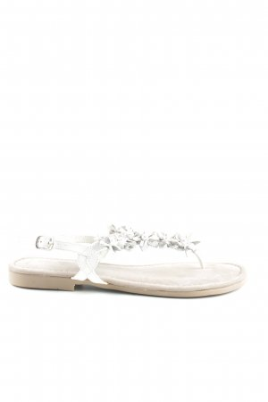 Marco Tozzi Teenslippers wit-zilver casual uitstraling