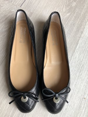 Mary Jane Ballerinas black leather