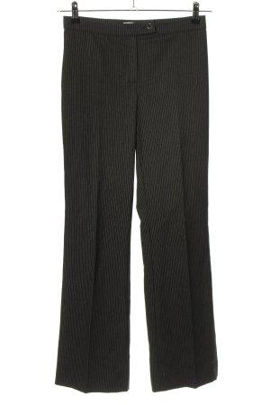 Marella Anzughose schwarz-hellgrau Streifenmuster Casual-Look