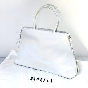 Marella Damen Handtasche Schultertasche weiß Leder
