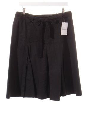 Marella Faltenrock schwarz klassischer Stil