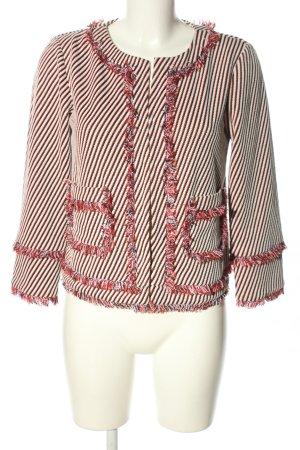 Marella Kurzjacke weiß-rot Streifenmuster Casual-Look