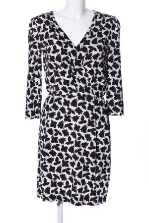 Marella Minikleid weiß-schwarz Allover-Druck Business-Look