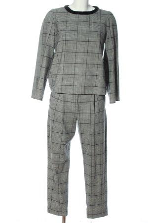 Marella Twin set in maglia grigio chiaro motivo a quadri stile casual