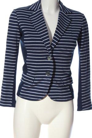 Marella Blazer sweat bleu-blanc motif rayé style décontracté