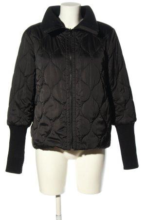 Marella Omkeerbaar jack zwart quilten patroon casual uitstraling