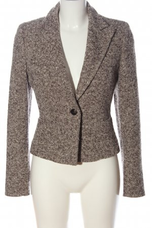 Marella Wollen blazer bruin-wolwit gestreept patroon casual uitstraling
