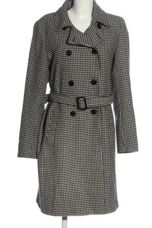 Marella Wool Coat black-white allover print business style
