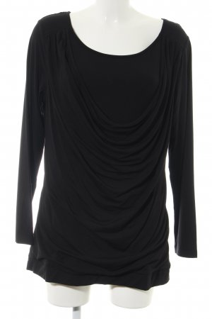 Maren Gilzer Cowl-Neck Shirt black casual look