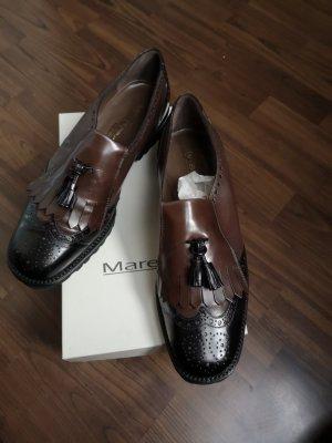 Maretto Neuwerrtig  Made in Italy Echt Leder Schuhe Loafer Slipper Halbschuhe Businessschuhe Budapester