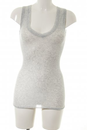 Margit brandt Basic Top hellgrau meliert Casual-Look
