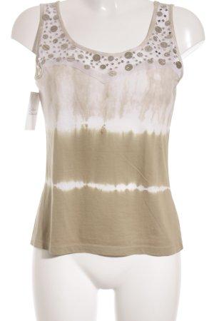 Margittes Basic Top beige-graugrün Street-Fashion-Look