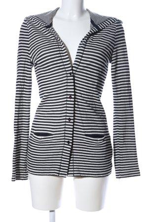 Margittes Cardigan schwarz-weiß Streifenmuster Casual-Look