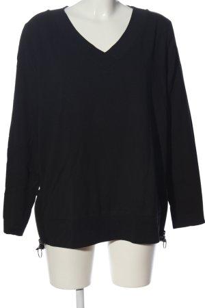 Margittes Langarm-Bluse schwarz Casual-Look